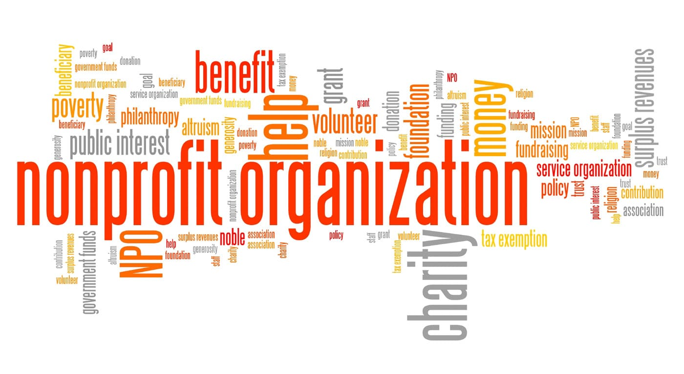 Word cloud of the word non-profit organization