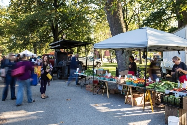 An image of the 2017 Allegheny Commons Farmer's Market.