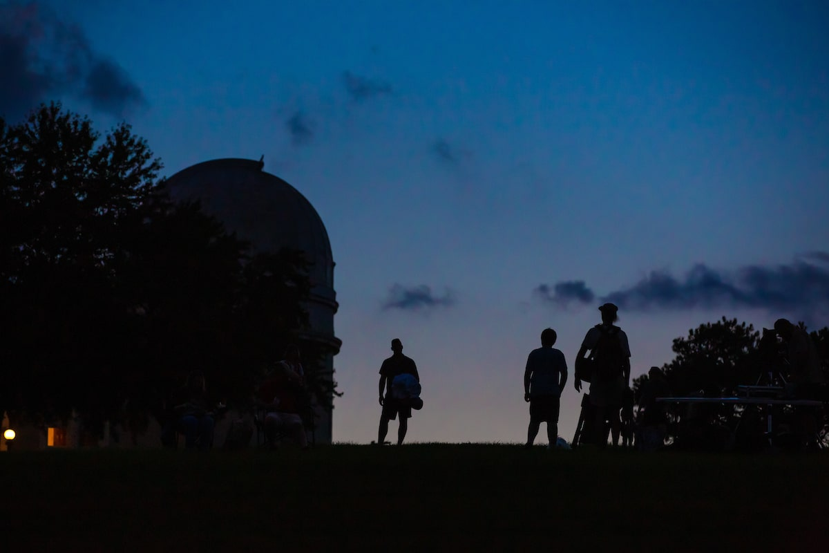 Allegheny Observatory at night