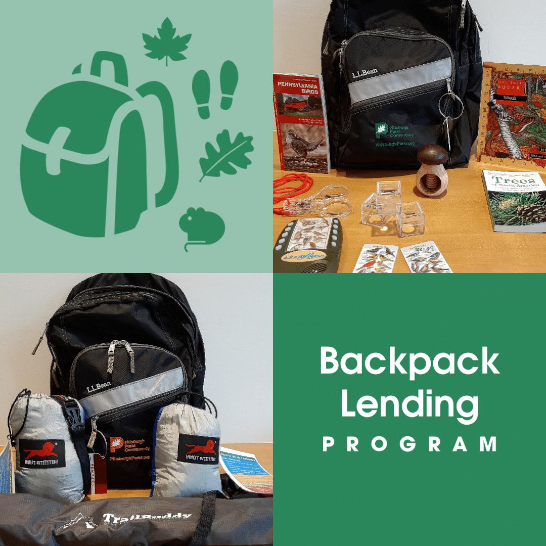 Image announcing the Backpack Lending Program