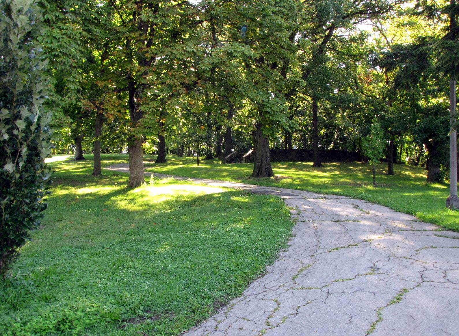 Path to terrace area in Schenley Park