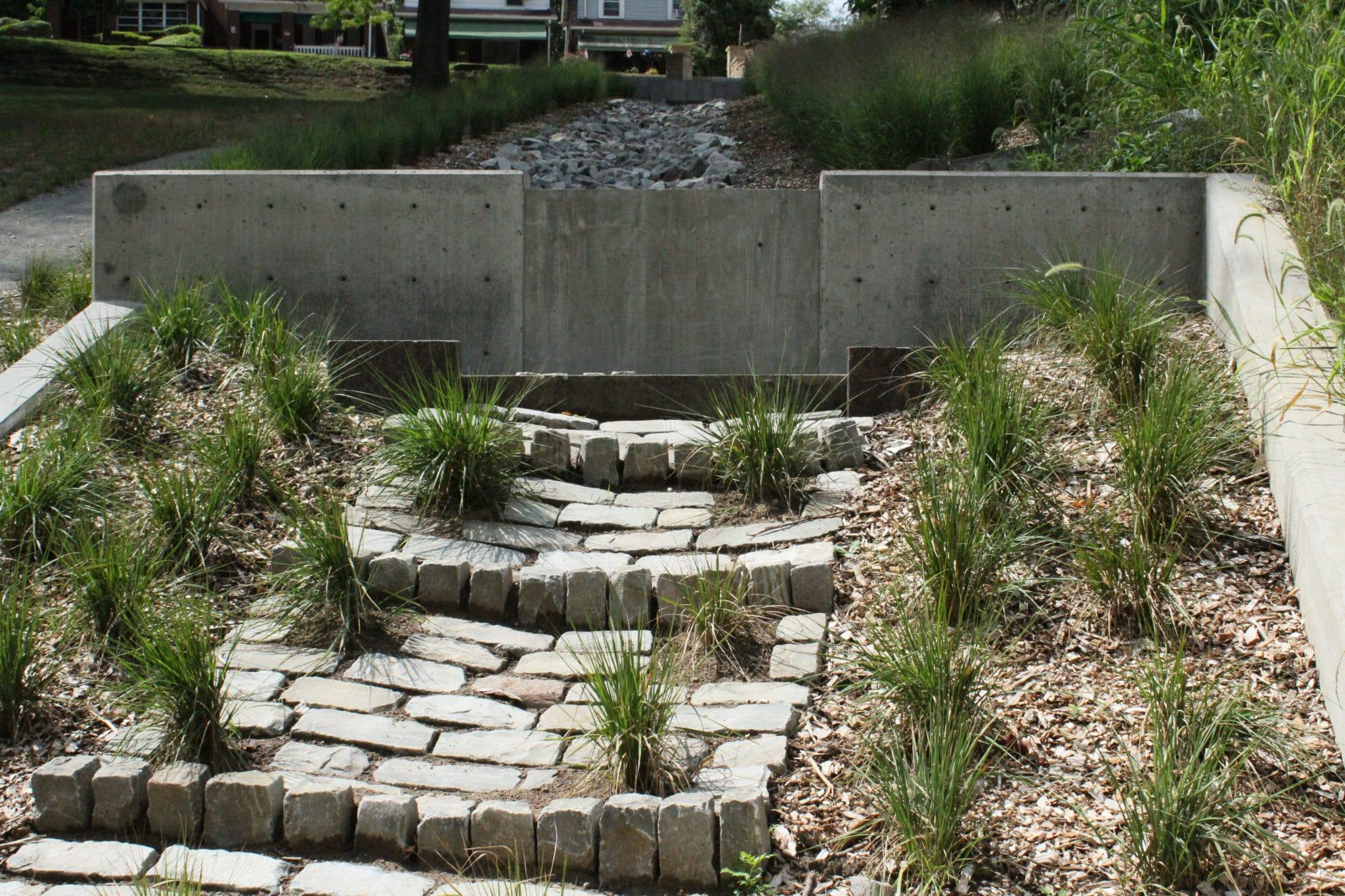 McKinley Park grass and bricks