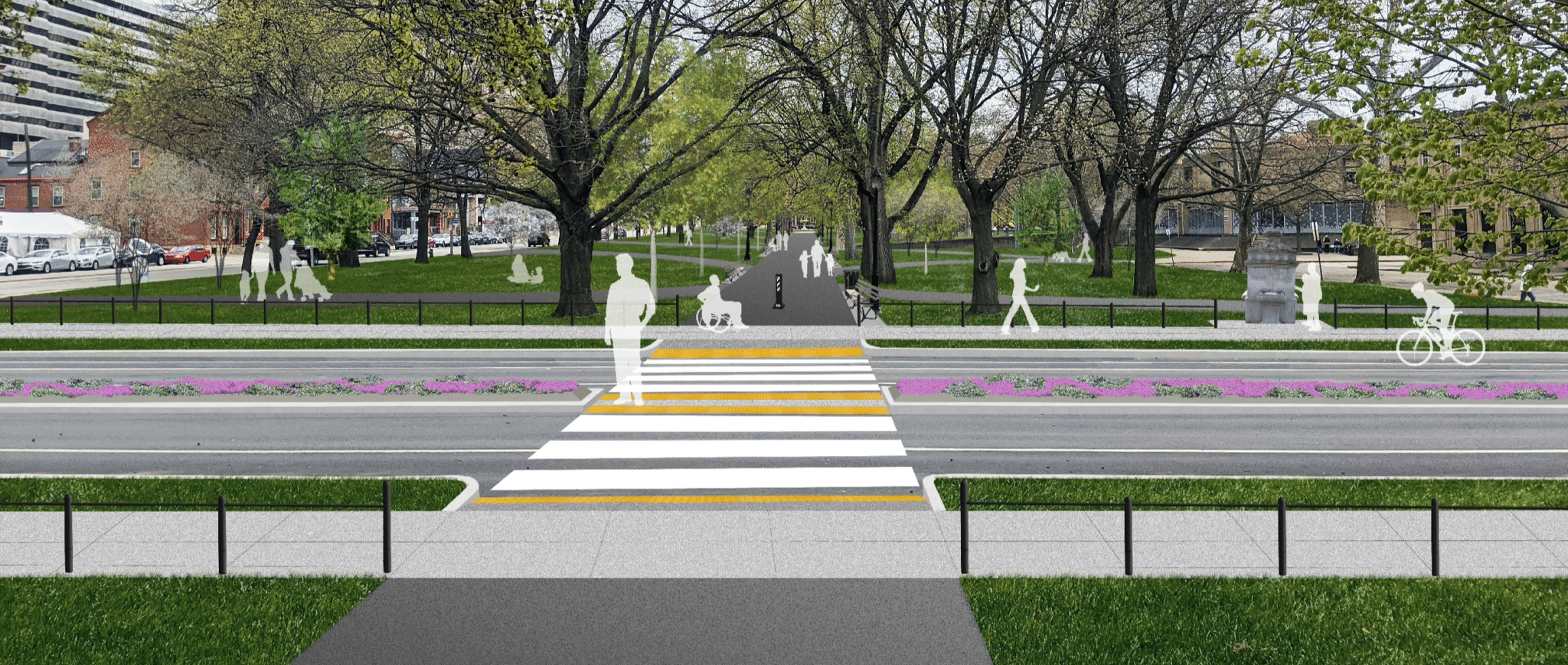 An image of the conservancy's plans for the North Promenade Project.