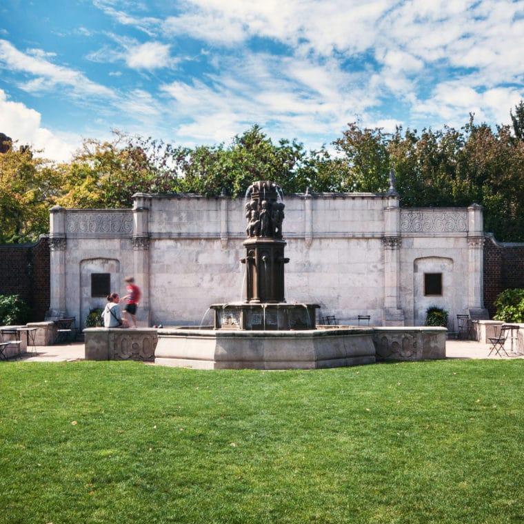 Mellon Park Walled Garden Fountain