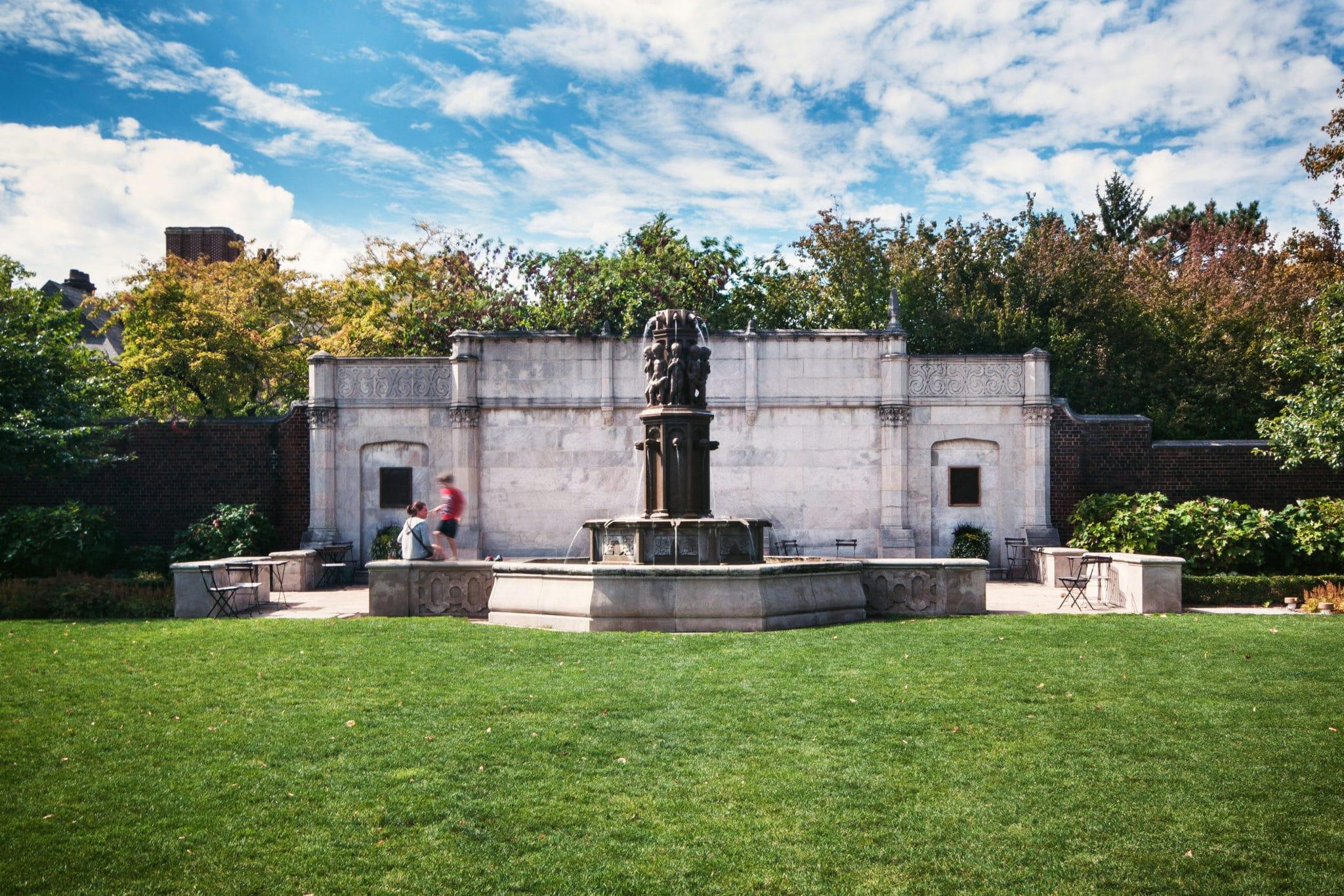 Walled Garden and Fountain at Mellon Park