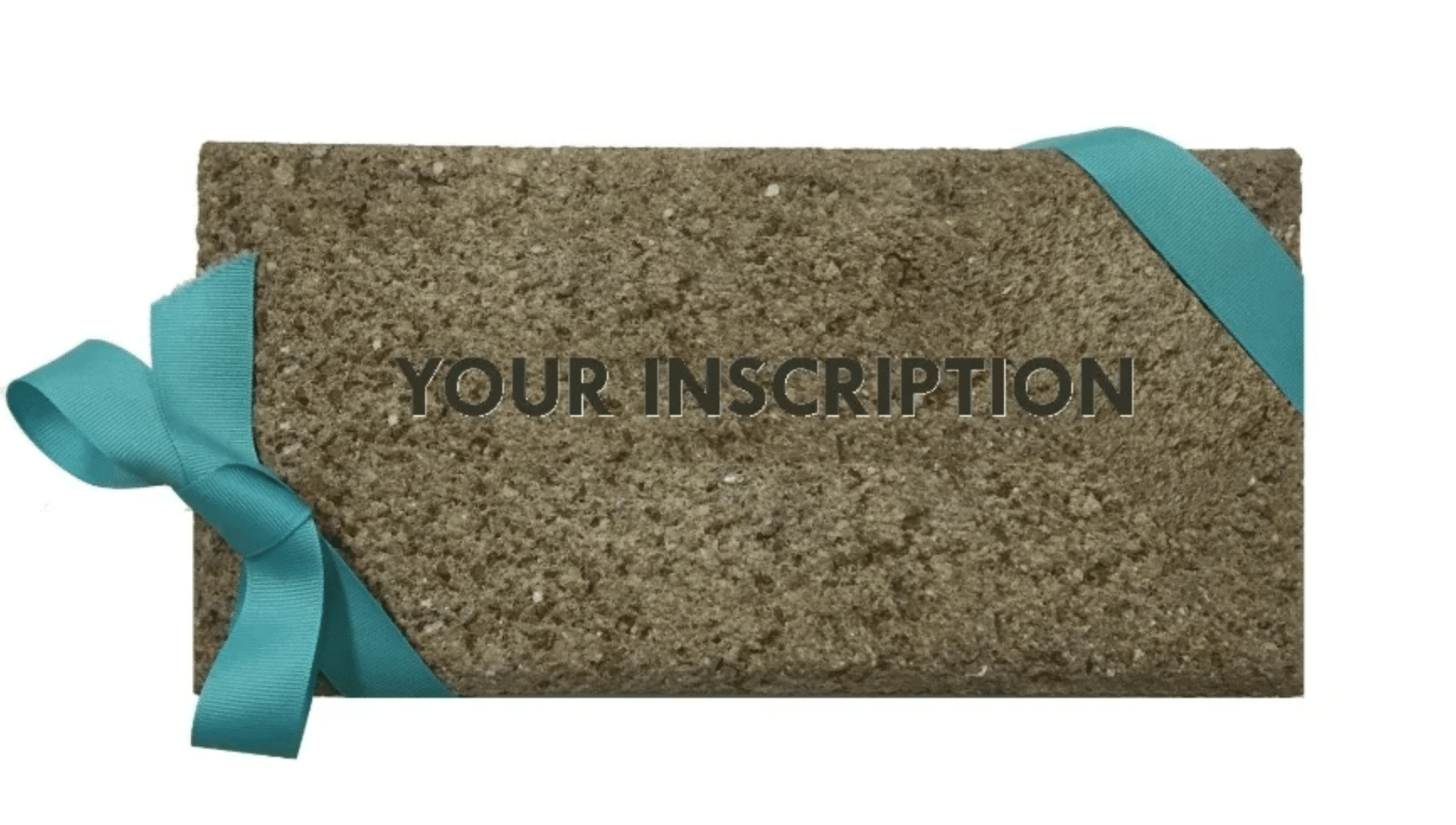 Brick with ribbon and editable inscription