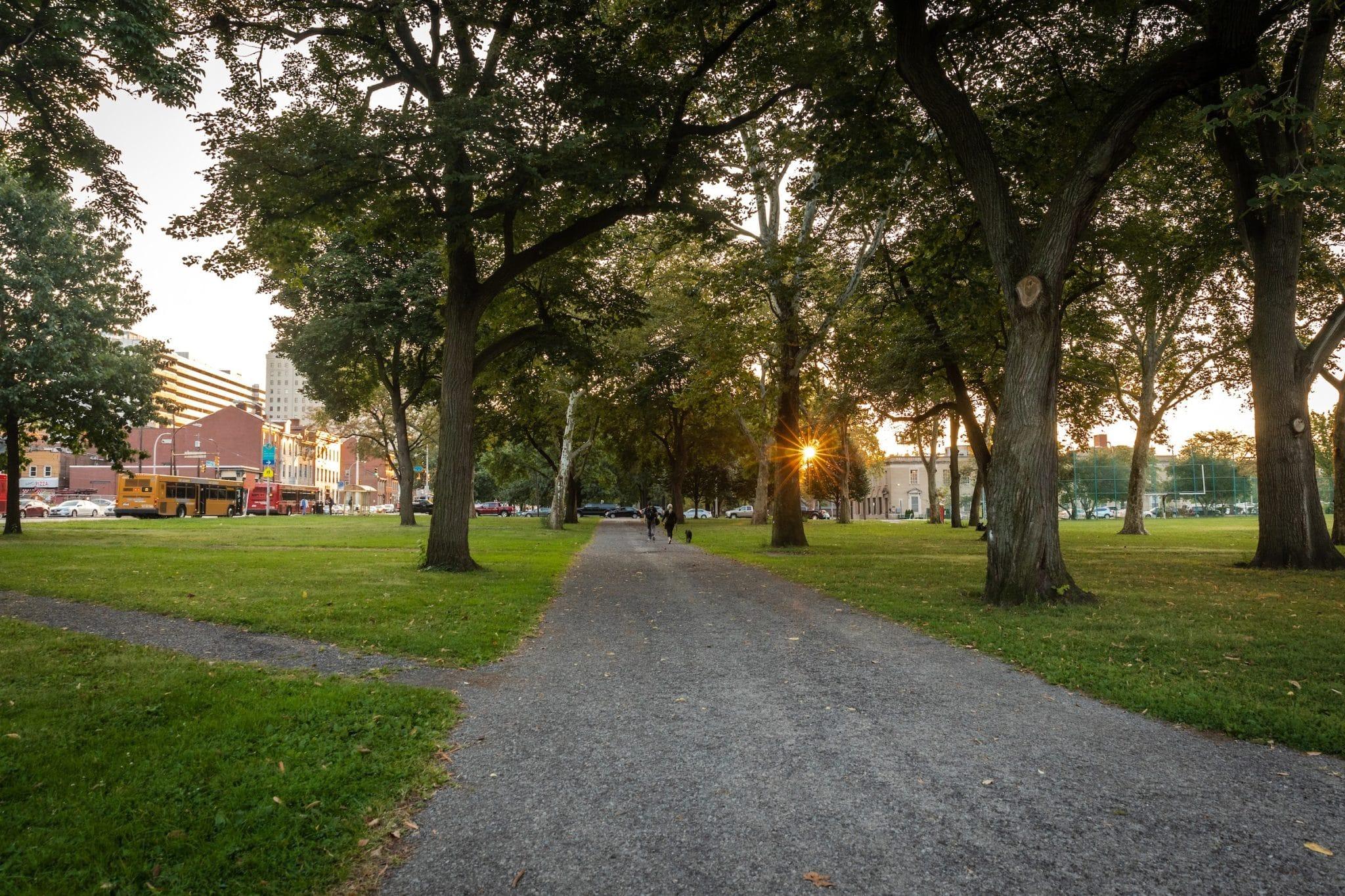Allegheny Commons Park pathways