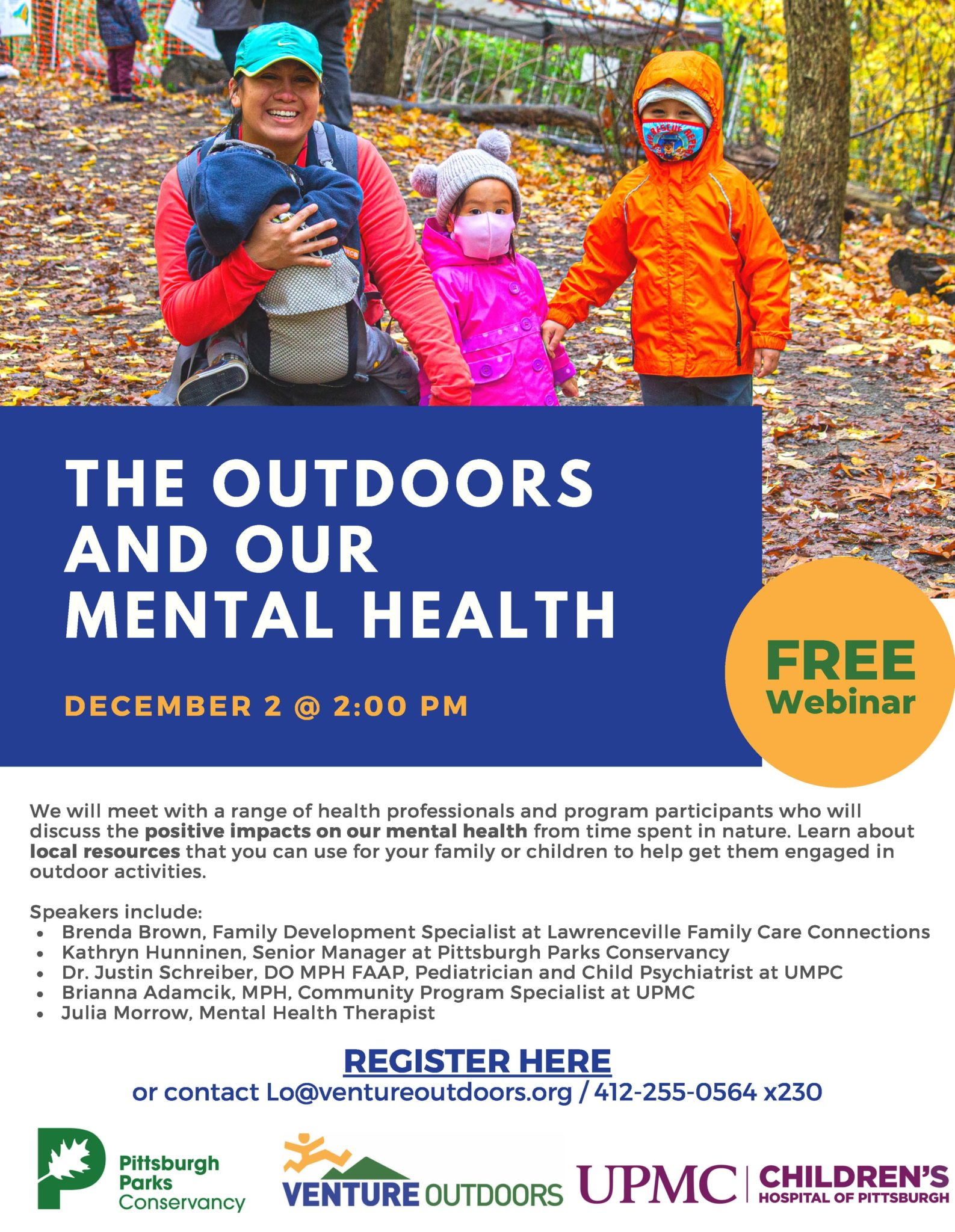 The Outdoors and Our Mental Health graphic