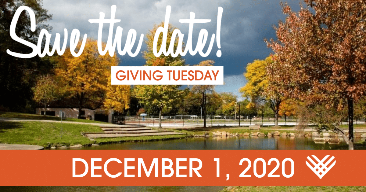 Save the date card for Giving Tuesday