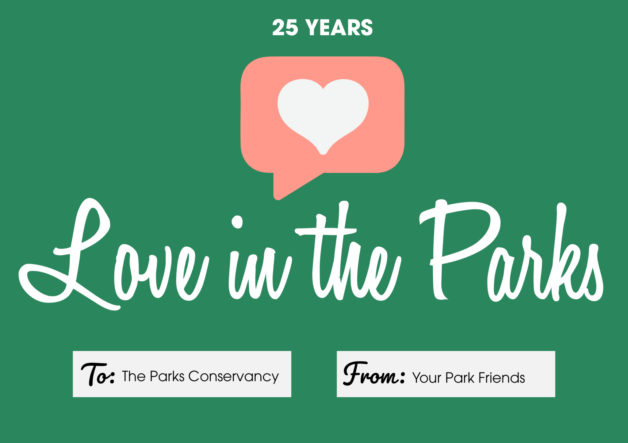 25 Years of Love in the Parks Graphic