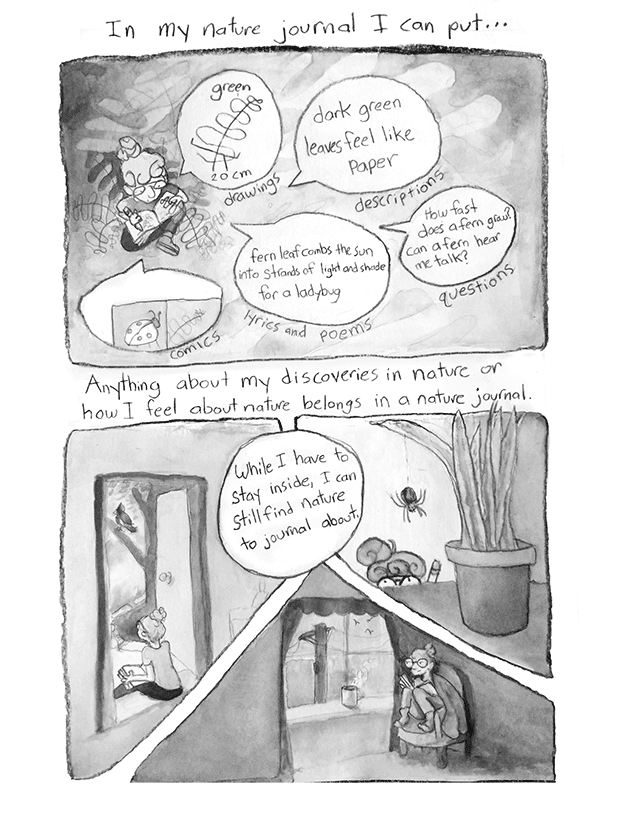 Comic about nature journals