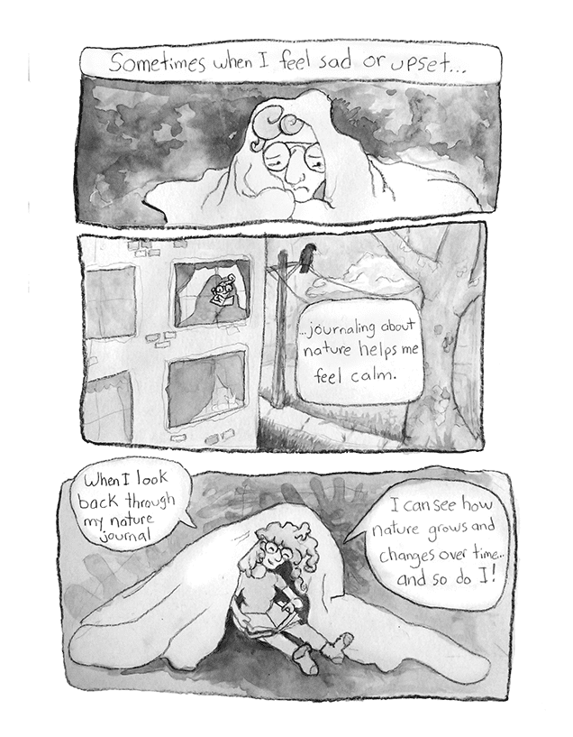Comic describing the calmness of nature