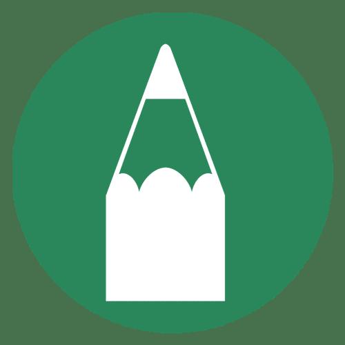 Green cartoon pencil