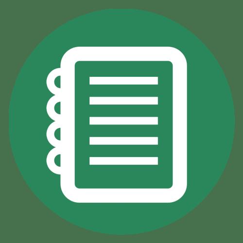 Green cartoon notebook
