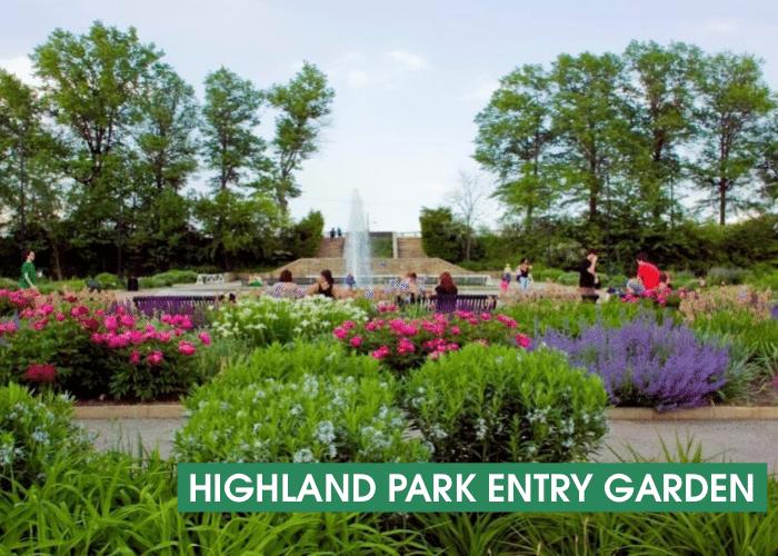 Highland Park Entry Garden Banner