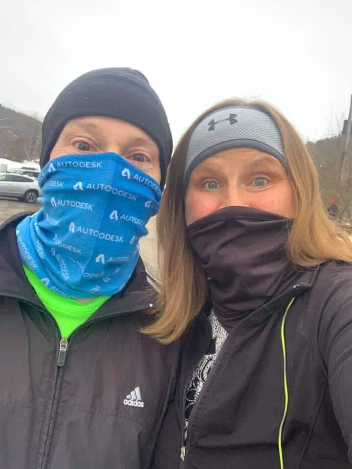 Heather and her husband Mike on their weekly running date!