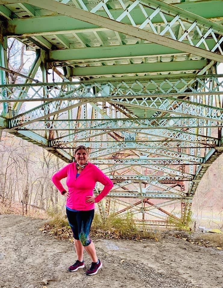 Heather Starr Fiedler on a run in Schenley Park
