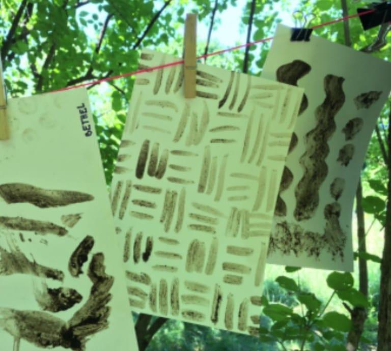 Hanging mud paintings