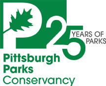 Pittsburgh Parks Conservancy 25 Years of Parks logo