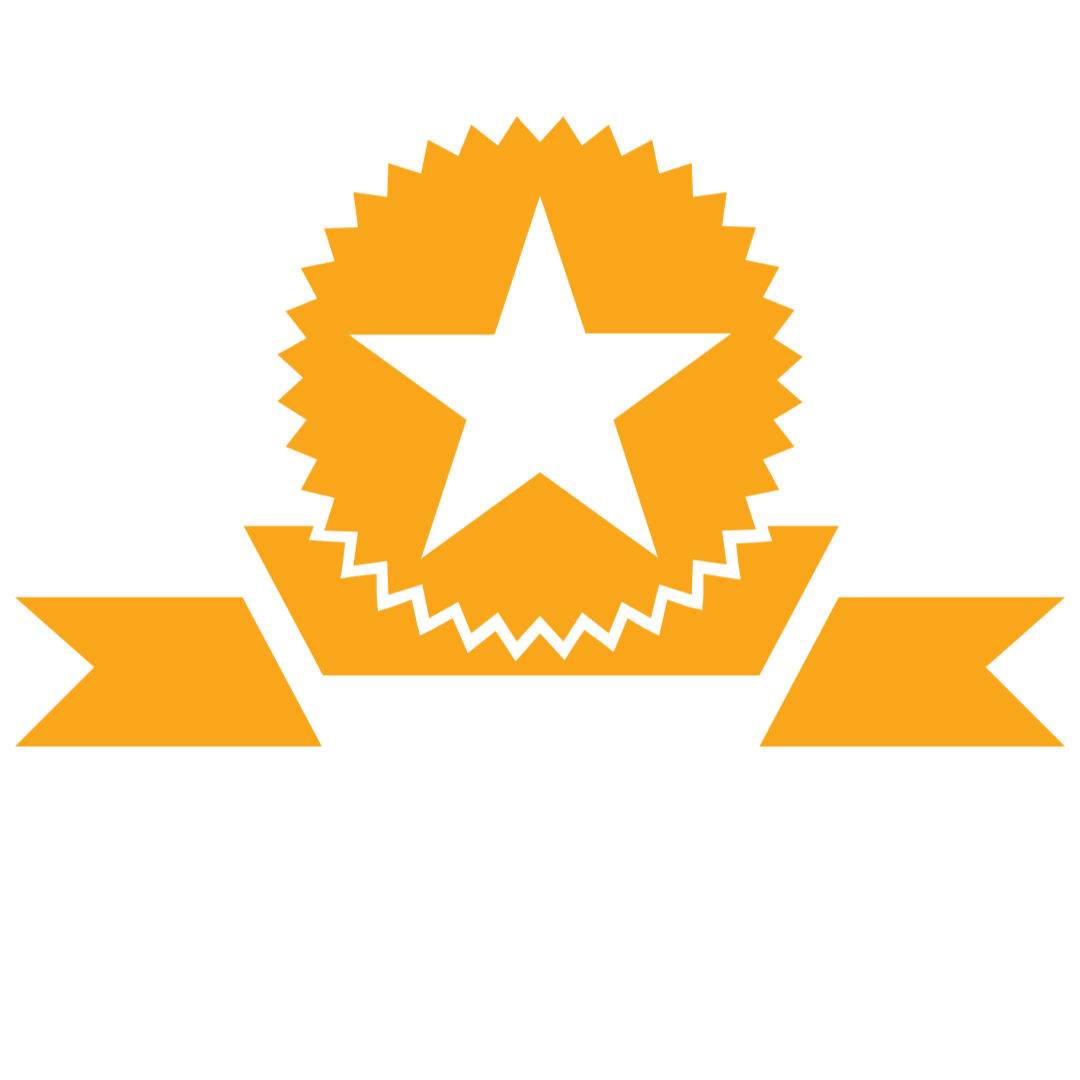 A gold star ribbon