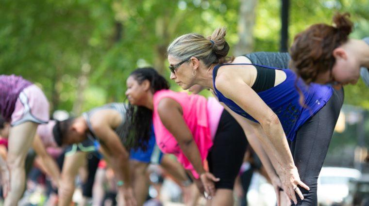 Yoga in Schenley Plaza