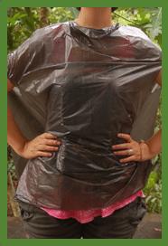 use a trashbag as a raincoat!