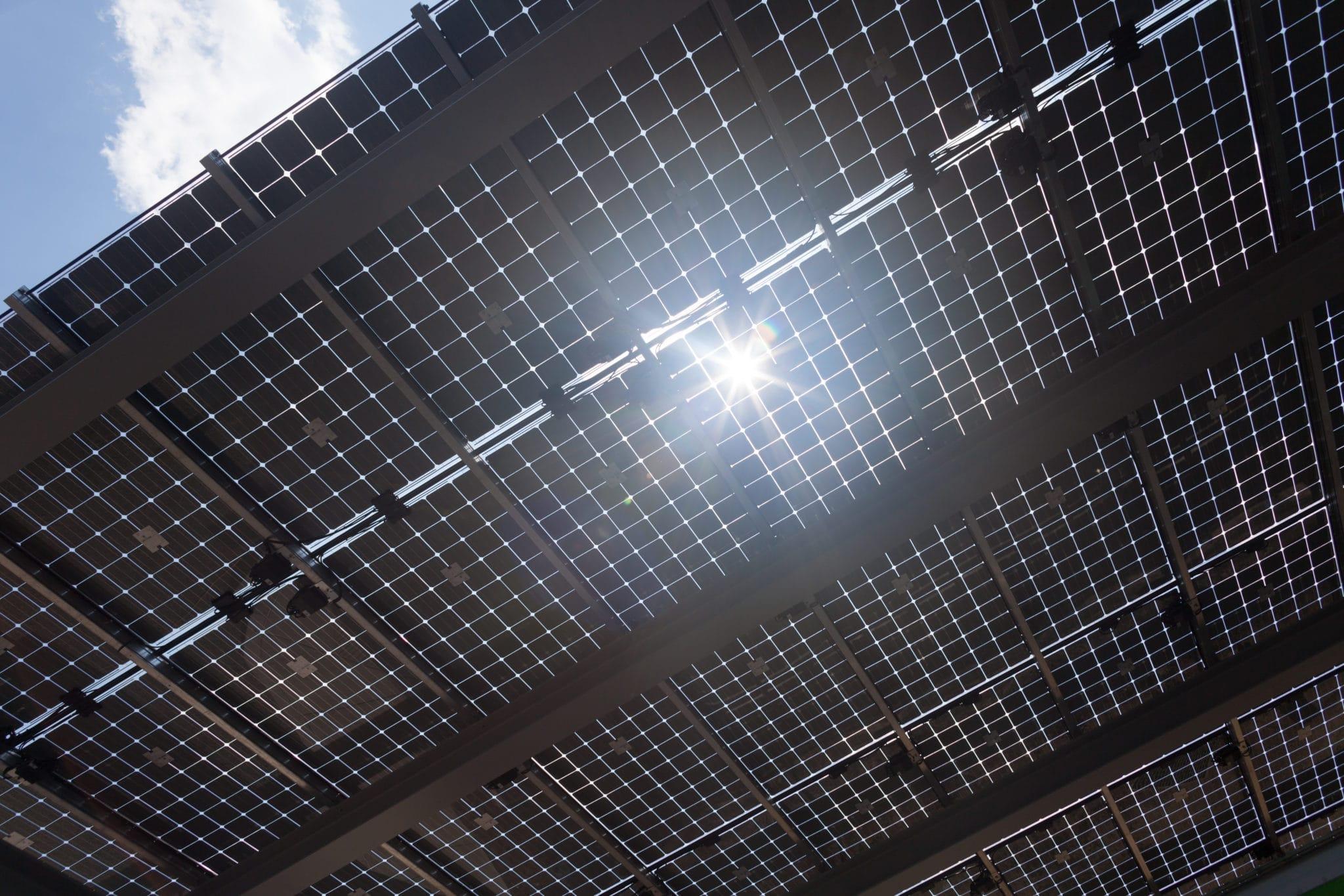 Solar Panels at the Frick Environmental Center