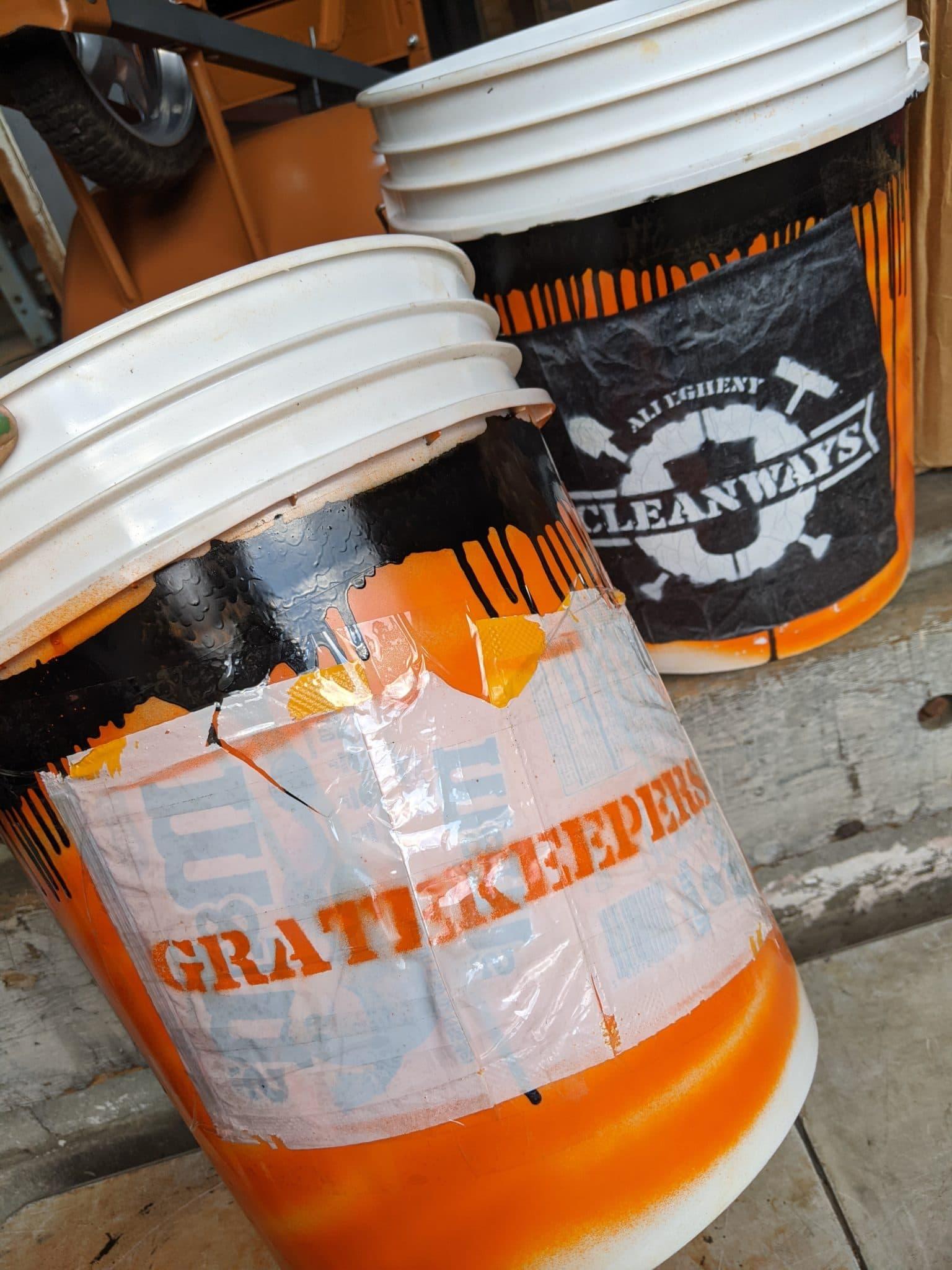 Gratekeepers volunteer cleanup bucket.