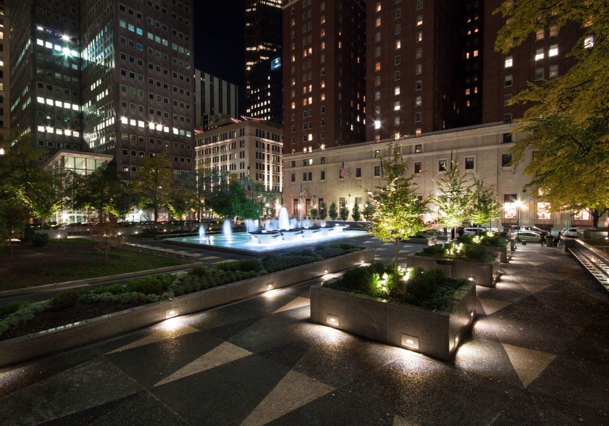 MSq Capital Projects 2015 Mellon Square Summer Fall R (Jeremy Marshall) Night